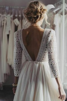 Incredible boho gown 😍 Love this unique style 💕Tag your girls to see if they like this … . Dress by Photo by Source The post Incredible boho gown Love this unique style Tag your girls to see if they like appeared first on Tikkhi. Disney Wedding Dress, Lace Wedding Dress, Best Wedding Dresses, Wedding Gowns, Dress Lace, Dress Shoes, Modest Wedding, Boho Wedding, Fall Wedding
