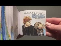 Taylor Swift Ed Sheeran END GAME- Hand-drawn Flipbook Taylor Swift Videos, Ed Sheeran, Hopeless Romantic, Hand Drawn, Queens, How To Draw Hands, Game, Cover, Books