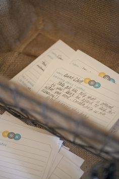 Guests write advice and wishes for baby that can be hung on a wishing tree or placed in the baby book. #babyshower