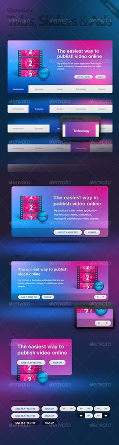 Realistic Graphic DOWNLOAD (.ai, .psd) :: http://sourcecodes.pro/pinterest-itmid-1000061611i.html ... Showtime Tabs, Ads & Sliders ...  ad, blue, business, clean, communication, dark, grey, media, modern, movie, pink, slider, tab  ... Realistic Photo Graphic Print Obejct Business Web Elements Illustration Design Templates ... DOWNLOAD :: http://sourcecodes.pro/pinterest-itmid-1000061611i.html