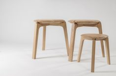 Tre Foil Wooden Stool by ruxi sacalis made in Romania on CROWDYHOUSE