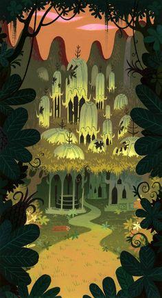 The Art Of Animation — Samurai Jack Art And Illustration, Fuchs Illustration, Illustrations Posters, Cartoon Background, Animation Background, Art Background, Bg Design, Layout Design, Environment Concept Art