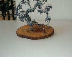 Grüner Baum Draht Bonsai Baum Art Gegenstände aus von WoodWorksUA