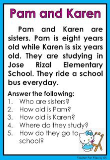 First Grade Reading Comprehension, Phonics Reading, Reading Comprehension Worksheets, Reading Passages, Teaching Reading, Learning, English Reading, English Writing Skills, English Lessons