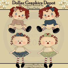 Little Annie Dolls - Clip Art - $1.00 : Dollar Graphics Depot, Quality Graphics ~ Discount Prices