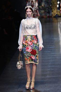 Dolce & Gabbana FW 12/13 - Girabaldi blouse sleeves