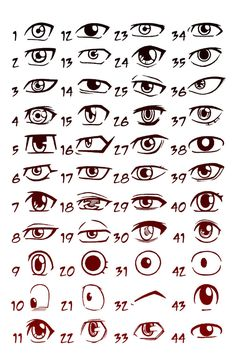 Here is the second installment of my ever popular Manga Eyes picture. I did this one as a study of just boy or men manga eyes. The other one was mostly women eyes. I picked some of the most popular...