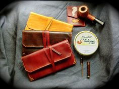 Leather Tobacco Pipe Pouches @ Etsy shop:  Sorringowl & Sons