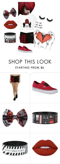 """""""Twenty one pilots"""" by shelbybauer ❤ liked on Polyvore featuring Chicas Fashion, Vans and Lime Crime"""