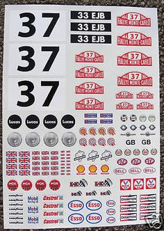 Rc #tamiya mini #monte carlo #rally stickers decals, View more on the LINK: http://www.zeppy.io/product/gb/2/150467085220/