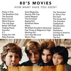 In the spirit of throwbacks, how many many movies from this list have you seen? Seen very few numbers I'm ashamed to mention 😂😂😂😂😂😂😂😂😂😂 . Netflix Movie List, Netflix Movies To Watch, Movie To Watch List, Good Movies To Watch, Movies And Series, Movies And Tv Shows, Teen Movies, Movie Tv, 1980's Movies