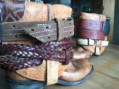 Boho BOOTS OOAK Cowboy leather Texas boots by DieselLaceDesign