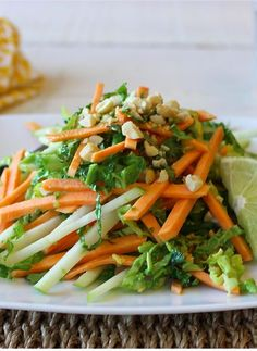 Spicy Sweet Potato Slaw Recipe :: Don't let their sweet nature fool you! Sweet potatoes' nutritiousness is off the charts, making sweet potatoes a wholesome option for children, adults, diabetics and anyone interested in improving their health. Sponsored.