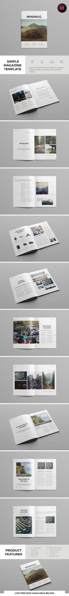 Simple Magazine Template InDesign INDD. Download here: http://graphicriver.net/item/simple-magazine-template/15604590?ref=ksioks