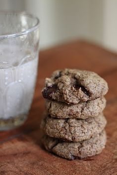 chocolate almond butter cookies - vegan