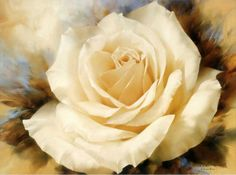 A champagne rose painting by Igor Levashov.