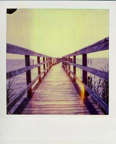 Expired Polaroid time-zero, by Andy Jenkins.