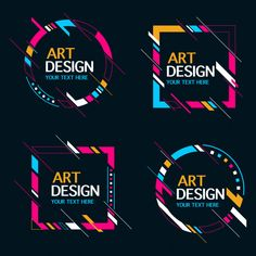 Art logo vectors, photos and psd files Web Design, Design Blog, Layout Design, Logo Design, Logo D'art, Typography Logo, Art Logo, Graphic Design Posters, Graphic Design Inspiration
