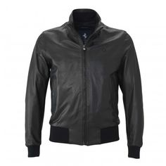 Men's Ferrari Cavallino Rampante Leather Jacket - Ferrari Store