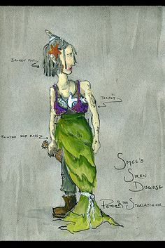 Costume design sketch for Peter and the Starcatcher