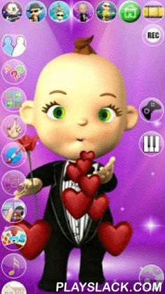 My Talking Baby Music Star  Android App - playslack.com ,  Talk to the Talking Justin West Baby and get into his dreaming world. He answers with his funny voice and reacts to what you say or your touch. With 4 exciting inside games with many levels to play.Our sweet baby just fell asleep and you will be able to see what is going on in his little head while he is apparently resting peacefully.Spend some time with Justin the dreaming super star and his highly entertaining activities. He will…