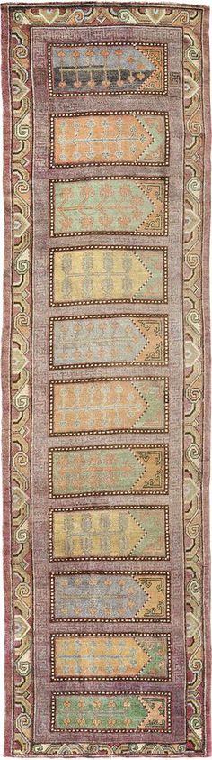 "ANTIQUE SAMARKAND Origin: EAST TURKESTAN Size: 3' 9"" x 13' 10"" Rug ID # 180"