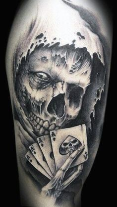 skull tattoos for men More