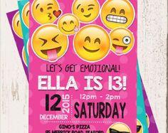 EMOJI BIRTHDAY INVITATION Emojis Emoji Invite by Asapinvites