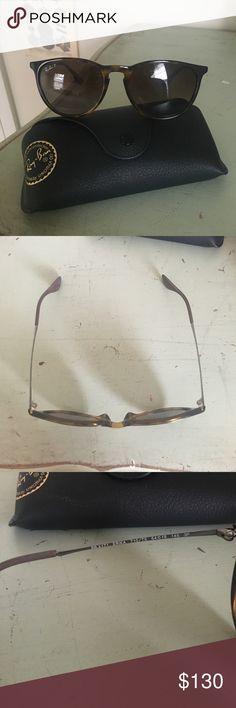 RayBan Ericka sunglasses Brown glossy Tortoise. Ericka style. Polarized RayBan  sunglasses. Perfect condition! Ray-Ban Accessories Sunglasses