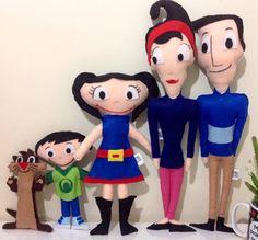 Show da Luna Família Completa 5 Bonecos