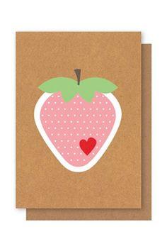 Elly Oak Card - Harvest Fare Strawberry