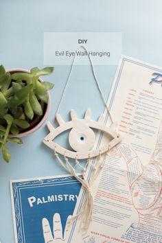 DIY: evil eye wall hanging