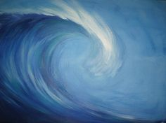 Wave painting I did :) « artist. hippie. cali chick. chic. nerd. beach bum. fashionista.