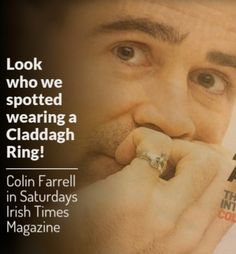 Look who we noticed is wearing a Claddgh Ring! We may be biased being Irish & all but we always knew Colin Farrell had good taste ❤ Irish Times, Claddagh Rings, Colin Farrell, You Deserve, Perfect Man, This Or That Questions, How To Wear, Advice, Jewelry