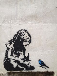 Banksy is a famous street artist, known for his social commentary through modern art. In this piece I see a young Margaret Fuller, a child who loves nature but is stifled by society.