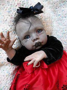 Vampire Baby Doll, To creepy! Zombie Dolls, Scary Dolls, Creepy Clown, Gothic Dolls, Victorian Dolls, Halloween Doll, Halloween Stuff, Creepy Kids, Haunted Dolls