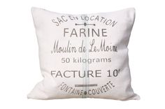 French Country  Vintage Linen Grain Sack Pillow  by AtelierBe, $72.00