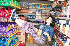 Go Mama go! Me grocery shopping without kids=vacation Martin Parr, Fashion Shoot, Editorial Fashion, Denim Vintage, Ft Tumblr, Portrait Photography, Fashion Photography, Estilo Indie, Mode Editorials