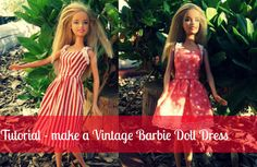 Make and sew a Vintage Barbie Doll Dress