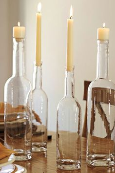Style Syllabus: Dorm Decorating Ideas For Rustic Rooms! #refinery29  http://www.refinery29.com/style-syllabus-dorm-decorating-ideas-for-rustic-rooms#slide6  Eclectic Glass Bottles, Set of 2, $49, available at Potter Barn.