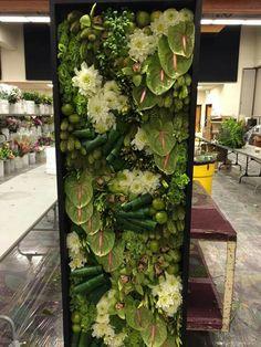 Orchid and anthurium arrangement Arte Floral, Vertikal Garden, Large Flower Arrangements, Corporate Flowers, Flower Show, Ikebana, Flower Wall, Flower Decorations, Garden Art