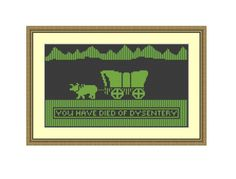 Cross stitch pattern You Have Died Of by CrossStitchVillage