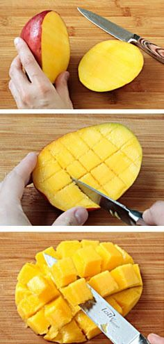 How To: Select, Peel & Dice A Mango | gimmesomeoven.com