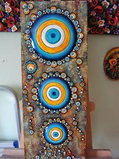 Dekoratif Resimler (Ayşegül Arslan) Kişisel Web Sayfası: Temmuz 2012 Dot Painting, Ceramic Painting, Fabric Painting, Stone Painting, Diy Crafts Love, Rock Crafts, Mandala Art, Stone Crafts, Mosaic Wall