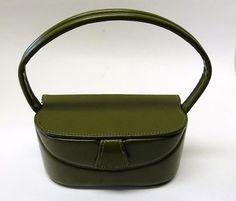 vintage green purses | Vintage olive green box purse