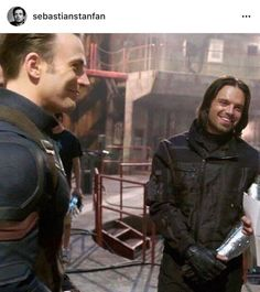 Chris Evans and Sebastian Stan: behind the scenes Marvel's Captain America