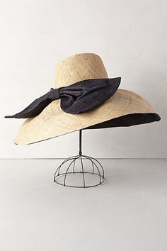 Classic.  Canotier Floppy Hat #anthropologie