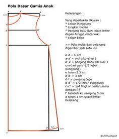 basic pattern for girl dress Kids Dress Patterns, Sewing Patterns For Kids, Sewing For Kids, Clothing Patterns, Pattern Sewing, Dresses Kids Girl, Kids Outfits, Dress Anak, Sewing Pants