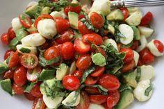 Meet the Sullivans: Mozzarella, Tomato, Basil & Avocado Salad