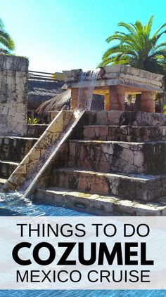 Things to do in Cozumel. Ancient Mayan ruins of Tulum city or Chichen Itza to explore Mexican culture on Mexico vacation. Doing that as a Cozumel excursion during a Caribbean cruise will take up most of the day. San Gervasio ruins tour on Cozumel island. Cancun, Cozumel Mexico Cruise, Cozumel Excursions, Tulum, Mexico Vacation, Mexico Travel, Shore Excursions, Panama Cruise, Cruise Port
